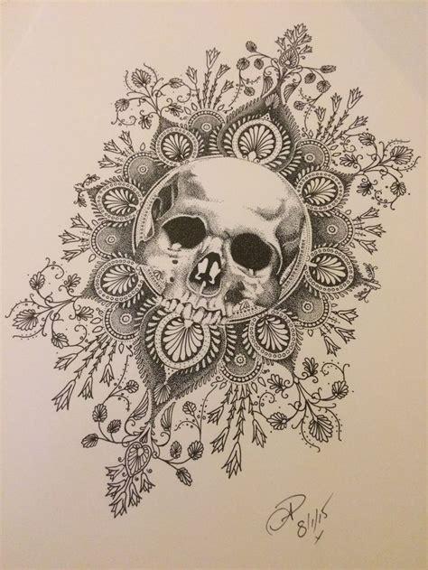 tattoo mandala skull dotwork tattoo design skull and mandala done by natasha