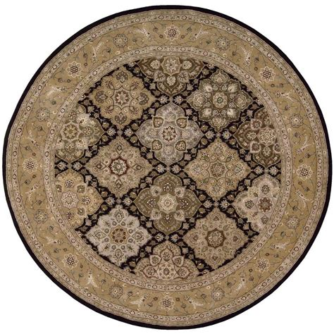 Nourison 2000 Black 8 Ft X 8 Ft Round Area Rug 602787 8 Foot Area Rugs