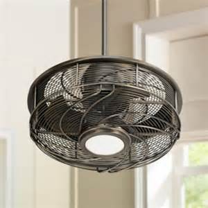 cage enclosed ceiling fans 17 quot casa vestige antique bronze cage led ceiling fan