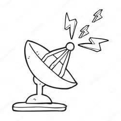 antenne parabolique caricature noir  blanc image