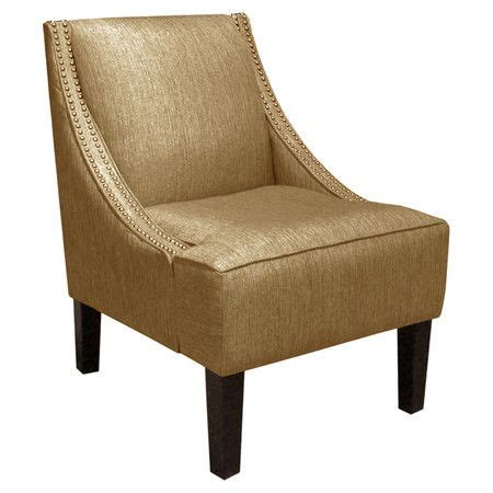 Swoop Arm Chair Design Ideas Pine Wood Swoop Arm Chair With Nailhead Trimmed Upholstery And Foam Cushioning Handmade In The