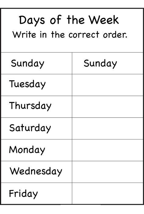 printable english worksheets days of the week days of the week worksheets activity shelter