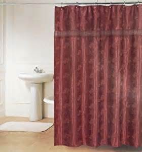 alexandra agnes shower curtain burgundy