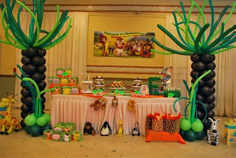 theme decoration madagascar party decorations by teresa