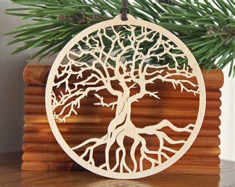 tree  life ornament woodcut tree  life decoration