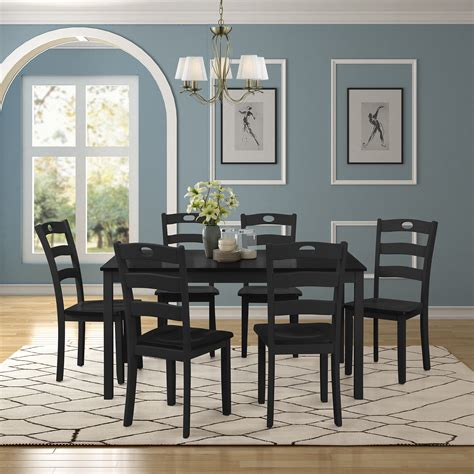 clearance dining table set   chairs  piece wooden