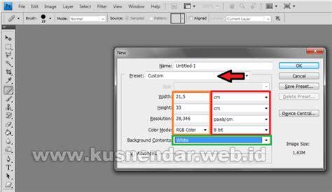 Kertas A4 Dan F4 cara setting ukuran kertas a4 dan f4 di photoshop kusnendar
