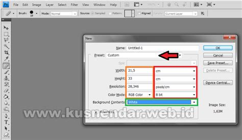 ukuran membuat logo di photoshop cara setting ukuran kertas a4 dan f4 di photoshop kusnendar