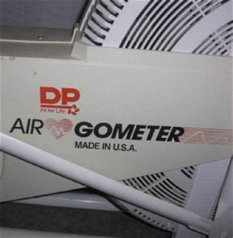 dp air gometer classic excercise bike bionix fitness used