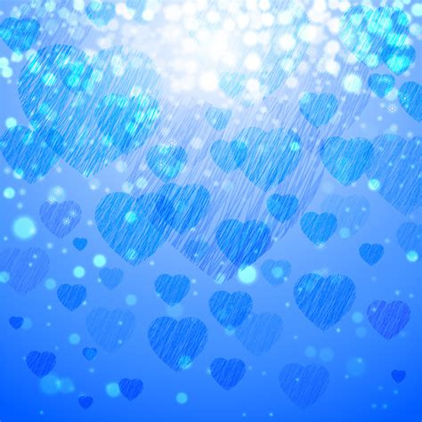 blue cute wallpaper vector blue heart background free vector in adobe illustrator ai