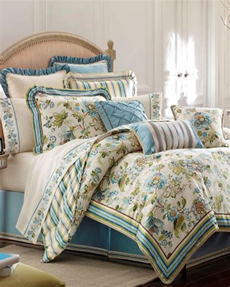 Croscill Townhouse Comforter by Corfu Sky Blue Bedding Ensemble By Croscill Townhouse Linens