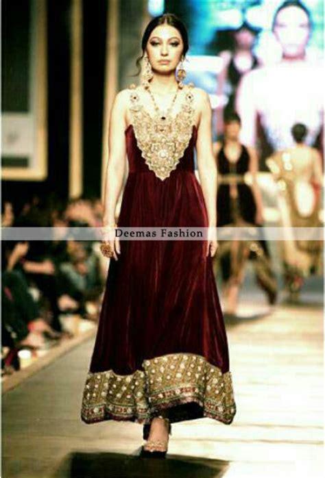 Aline Maxy Maroon formal wear dress maroon a line frock designer