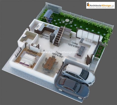 3d Floor Plans By Architects Find Here Architectural 3d House Plans With 3d Interior Images