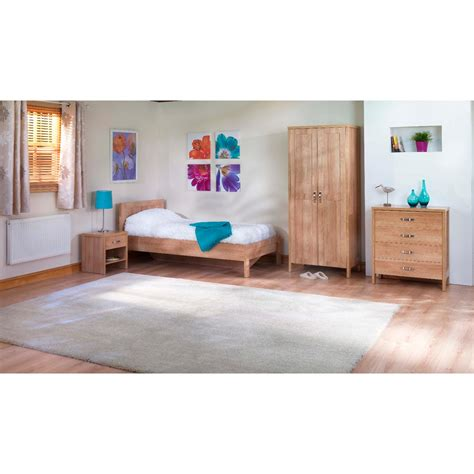 oxford trio bedroom set in light oak next day delivery