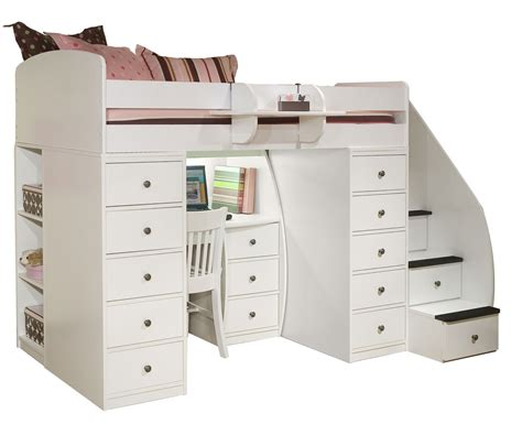 Bunk Bed With Stairs And Desk Space Loft Bed With Desk Clever It Size Loft Bed With Desk