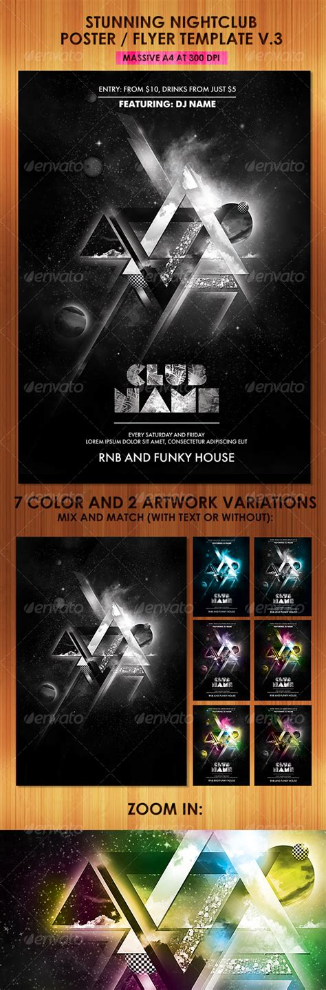 stunning nightclub poster flyer template v print templates