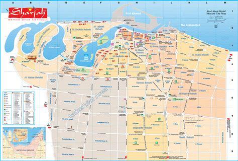 road map uae sharjah emirate in uae