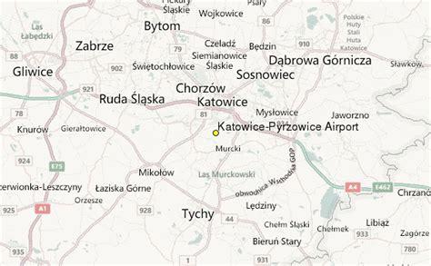 katowice map katowice pyrzowice airport weather station record
