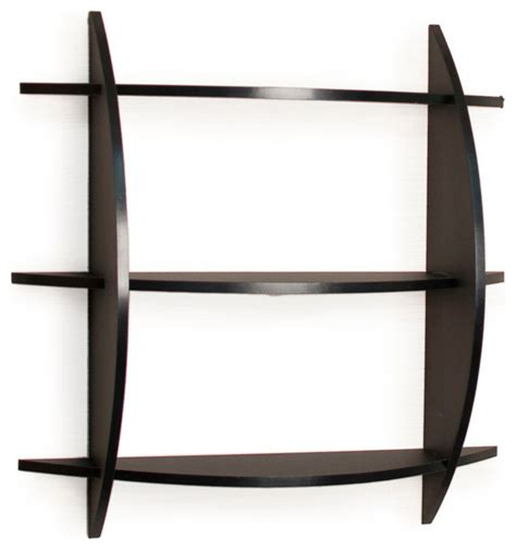 Half Wall Shelf 3 tier half moon shelf unit black contemporary display and wall shelves by danya b