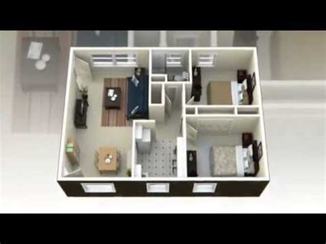 house plan 3d view 2 bedroom house plans 3d view concepts youtube