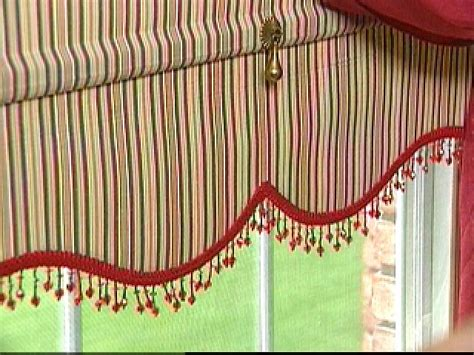 pull down curtain shades how to make pull down shades with beaded ribbon hgtv
