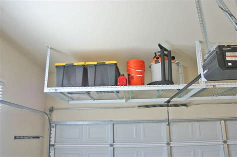 Overhead Garage Storage Ideas Diy Overhead Garage Storage Racks Image Gallery