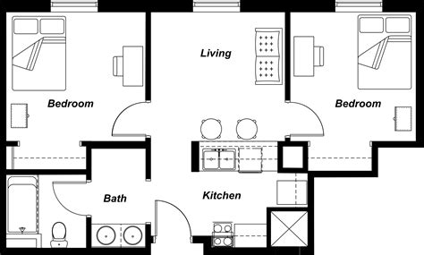 residential floor plan residential interior design modern house