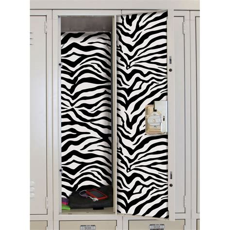 M8 Wallpaper Sticker Motif Zebra locker stickers zebra set of 2 in locker decor