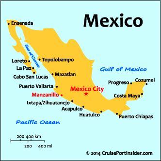 map of mexico acapulco cruiseportinsider manzanillo basics