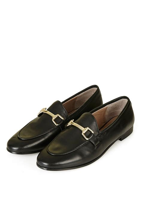 Buckle Loafers kendall leather buckle loafer topshop