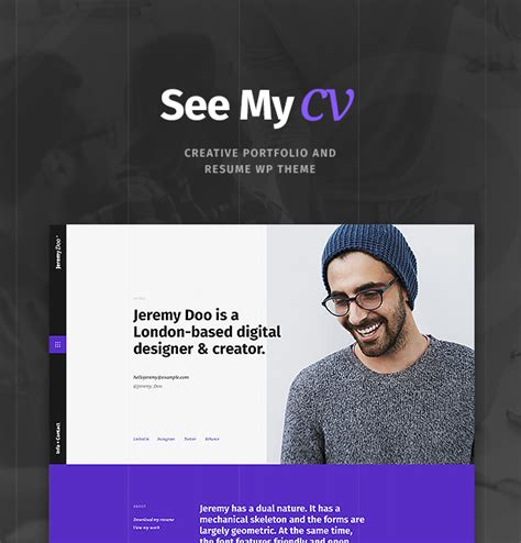 Theme Cv by See My Cv Resume Vcard Theme By Cmsmasters