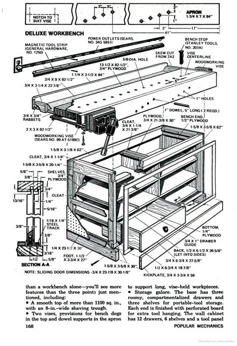 popular woodworking plans popular mechanics workbench plans woodworking projects