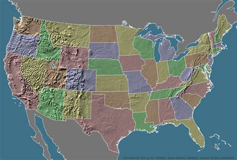 america geographic map map of us geographic regions