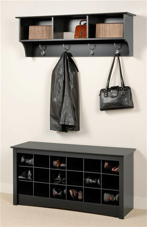 shoe storage wall mounted entryway wall mount coat rack w shoe storage bench in
