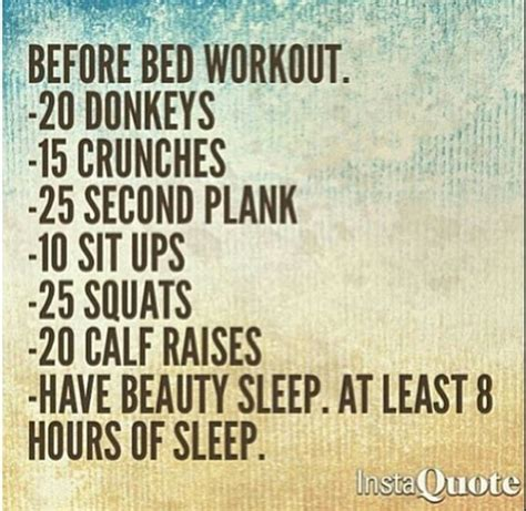 exercise before bed sleep before bed workout and it is on pinterest