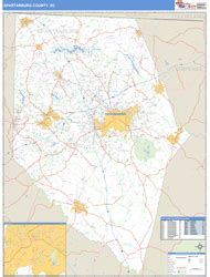 zip code map upstate sc spartanburg county sc zip code wall map basic style by