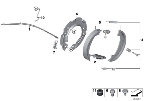 bmw parking l replacement bmw genuine replacement parking hand brake shoe expanding