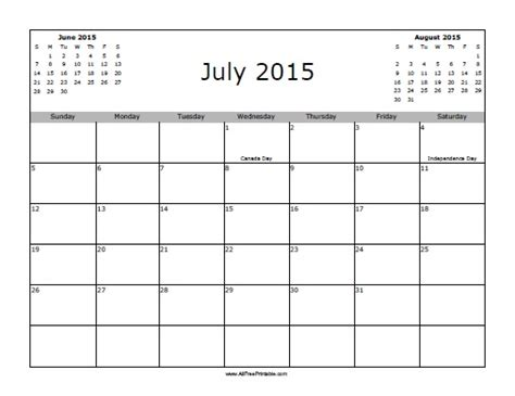 printable calendars july 2015 july 2015 calendar with holidays free printable