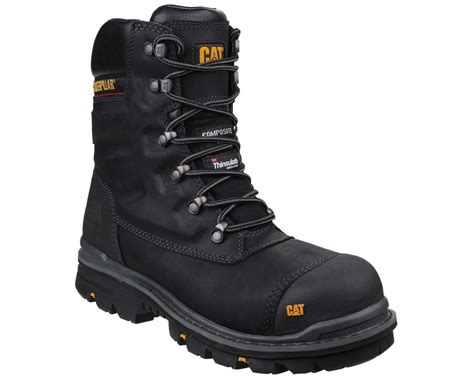 Sepatu Boots Safety Caterpilar Kansas Steel Toe Black 1 caterpillar cat premier boot s3 mammothworkwear