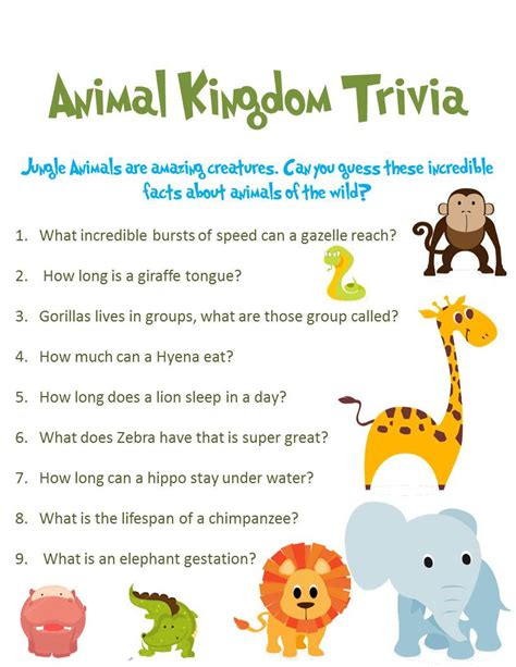 printable baby animal quiz jungle animal baby shower game 3 pack special