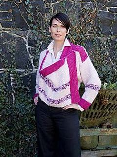 maggie jackson knits ravelry cahir cardi with dipped cowl front pattern by