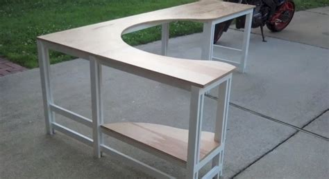 Plywood Corner Desk Plywood Corner Desk Pdf Diy Plywood Corner Desk Plans Project Plans Furnitureplans Wraparound
