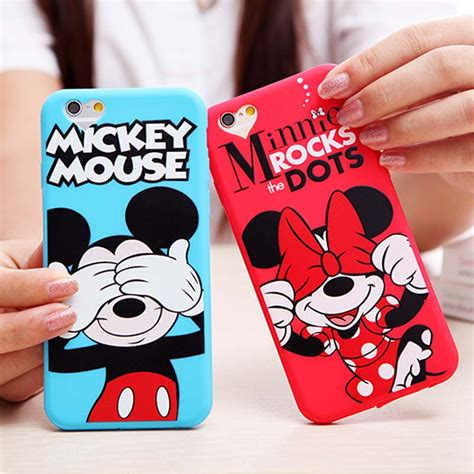 Disney Big Donald Softcase For Iphone 55s66s66s luxury soft silicon for iphone 6s 6 plus minnie mickey mouse donald phone