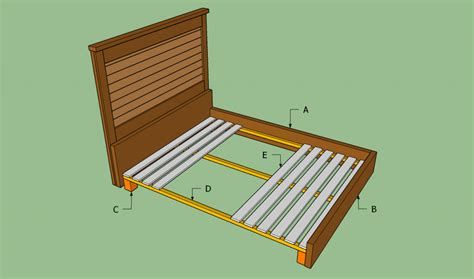how to make a bed frame out of pallets how to build a wooden bed frame howtospecialist how to