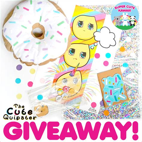 Cute Giveaways - the cute quipster giveaway closed super cute kawaii