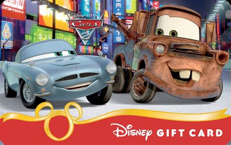 Online Disney Gift Card - ka chow new cars 2 disney gift cards available online at disney parks disney