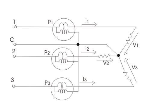 3 phase wattmeter connection diagram measurement of three phase power
