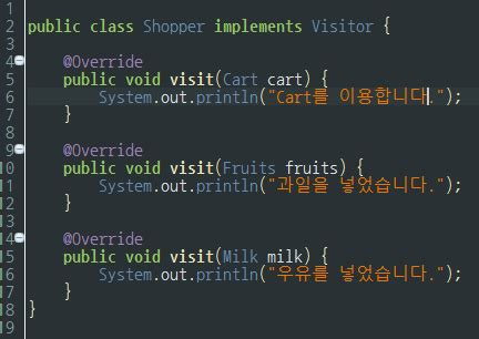 visitor pattern overloading visitor pattern 배워보기