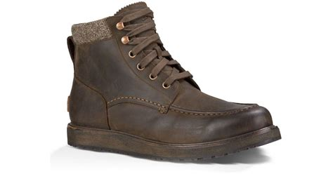 ugg lace up boots ugg merrick lace up boots in brown for lyst