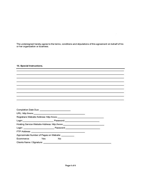 Website Design Contract Free Download Web Design Contract Template